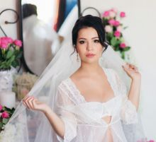 Свадебный макияж от Натальи Руденко, прическа - Алена Ратушняк